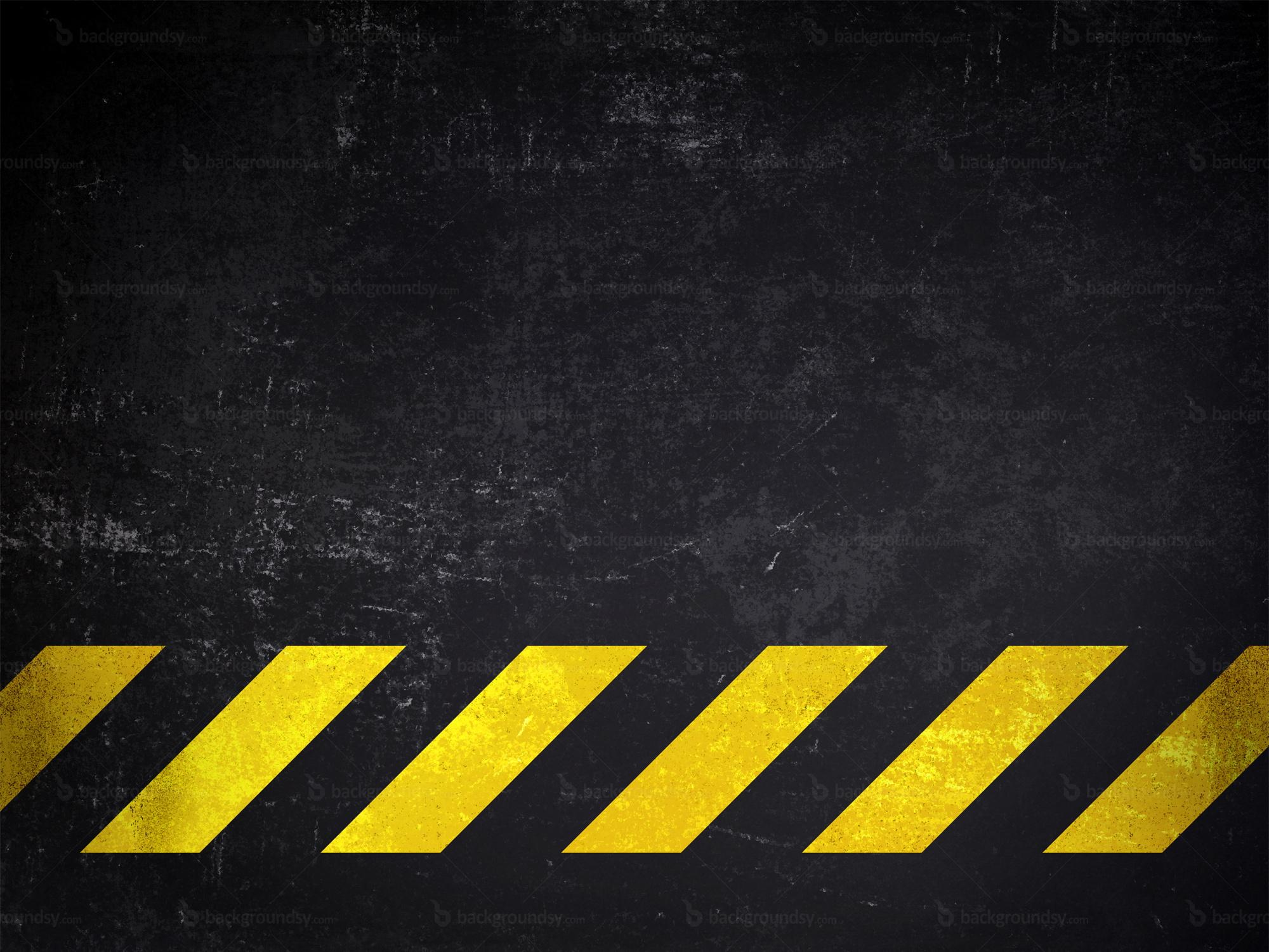 Black and Yellow Hazard Background
